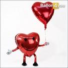 Ballonbukett Airwalker Herz